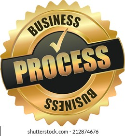 gold business process sign