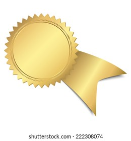 gold button with ribbon template