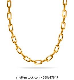 Gold Chain. Fashion Design for Jewelry. Vector illustration