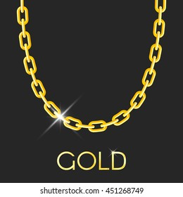 Gold chain necklace images stock photos vectors shutterstock gold chain jewelry on dark background vector illustration for web banner design and print aloadofball Image collections