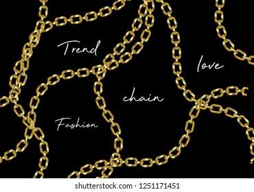 gold chain. seamless chain pattern. Fabric print design. fashion design  jewelry and accessory.