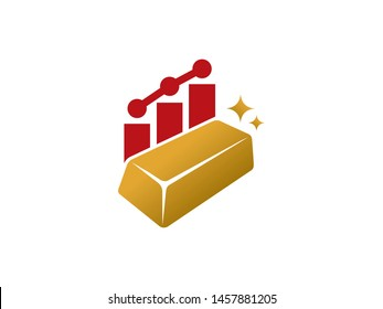 Gold Chart logo symbol or icon template