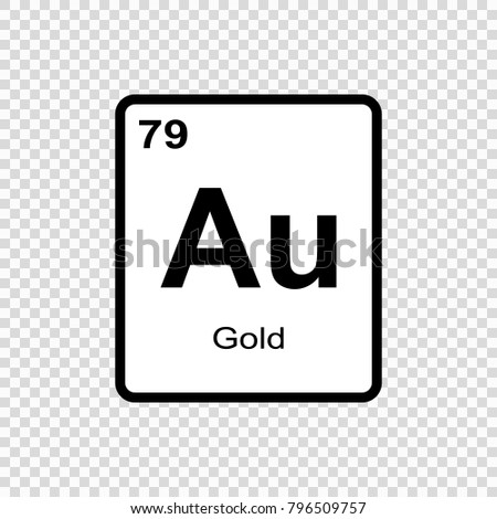 Gold chemical element sign atomic number stock vector royalty free gold chemical element sign with atomic number chemical element of periodic table urtaz Images