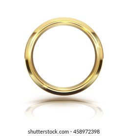 Gold circle isolate on white background. Vector illustration.