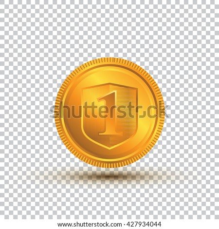Gold Coin On A Transparent Background