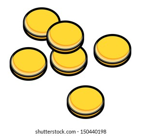Gold Coins - Vector Illustration