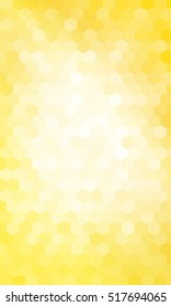 Gold color geometric background of colored hexagon. Vector illustration. Polygonal patterns for your presentations, business