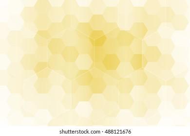 gold color hexagon wallpaper. vector illustration. for design