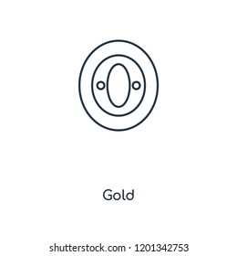 Gold concept line icon. Linear Gold concept outline symbol design. This simple element illustration can be used for web and mobile UI/UX.
