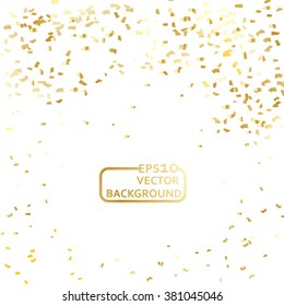 Gold confetti celebration background