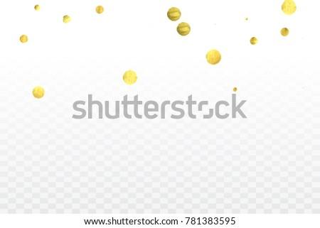 gold confetti celebration birthday party invitation stock vector