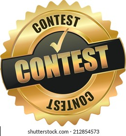 gold contest sign