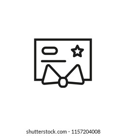 Gold credit card line icon. Privilege, premium, VIP plastic card. Credit card concept. Vector illustration can be used for topics like banking, money, wealth