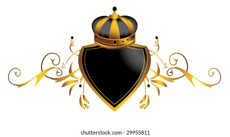 Gold crown image 3 - vector