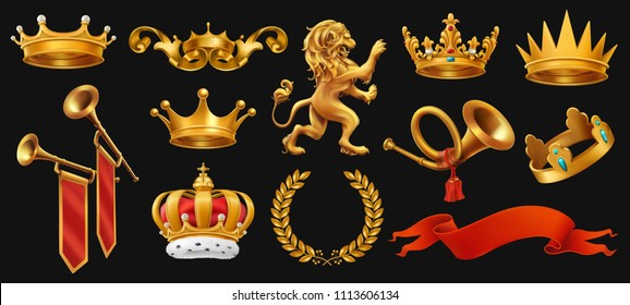a9ae0363f7 Gold crown of the king. Laurel wreath