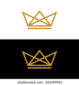Gold Crown logo template