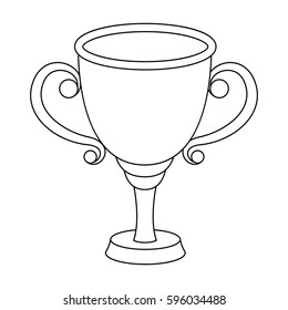 Gold Cup for the first place.The award winner of the racing competition.Awards and trophies single icon in outline style vector symbol stock illustration.