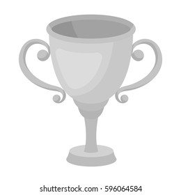 Gold Cup for the first place.The award winner of the racing competition.Awards and trophies single icon in monochrome style vector symbol stock illustration.