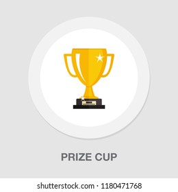 gold cup trophy Icon - cup prize icon - winner icon - award first place icon