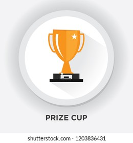GOLD CUP TROPHY ICON - cup prize icon - winner icon - award first place icon. vector. 5k