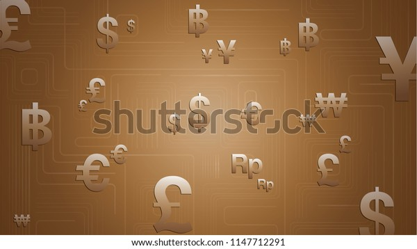 Gold Currency Background