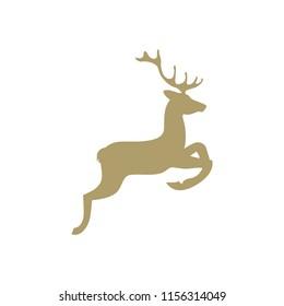 gold deer, logo icon