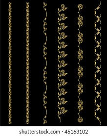 Gold design element chains - vector version