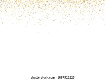 Gold Falling Glitter Confetti Celebration Party Background