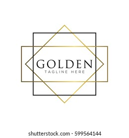 Gold fashion logo design