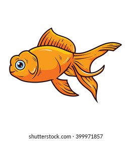 Gold Fish Cartoon Illustration