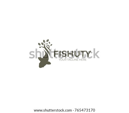 gold fish logo template sealife vector stock vector royalty free