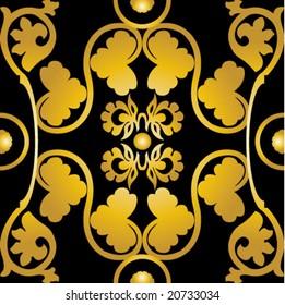 gold floral pattern