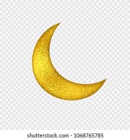 gold half moon images stock photos vectors shutterstock https www shutterstock com image vector gold foil half moon yellow glossy 1068765785