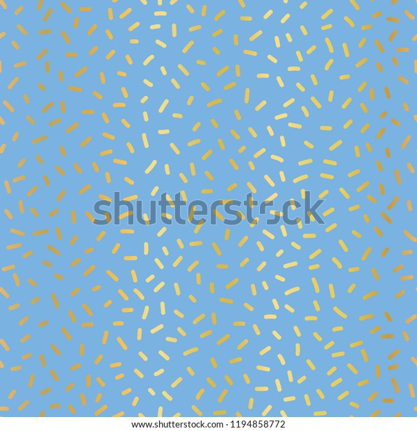 Gold Foil On Blue Party Sprinkles Stock Vector (Royalty Free