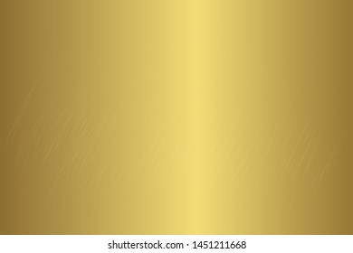 Gold foil scratched chrome metallic texture vector icon set. Shiny golden brushed vector metallic gradient background for banner, label, medal, button. Grunge gold vintage abstract gradient collection