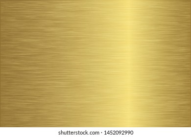 Gold foil scratched chrome metallic texture vector icon. Shiny golden brushed vector metallic gradient background for banner, label, medal, button. Grunge gold vintage abstract gradient