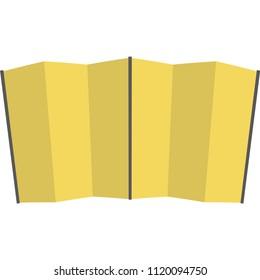 Gold folding screen