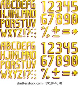 Gold Fonts vector
