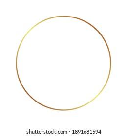 Gold frame border golden vector thin boarder round circle element