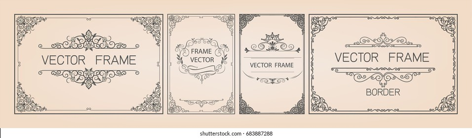 Gold frame with corner thailand line floral for picture, Vector design decoration pattern style. frames certificate border design is patterned Thai style diploma border design template,