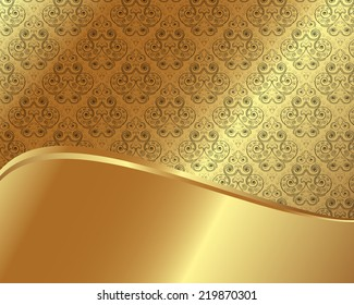 Gold frame with pattern and place for text