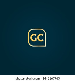 Gold GC company linked letter logo concept. Designed for your web site design, logo, app, UI. Gold initial logo design. GC gold logo.luxury design and color.