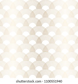 Gold geometric pattern vector. Oriental line background. curve elements decoration.