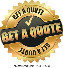gold get a quote sign