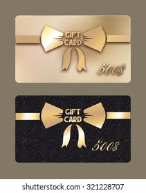 Gold gift cards