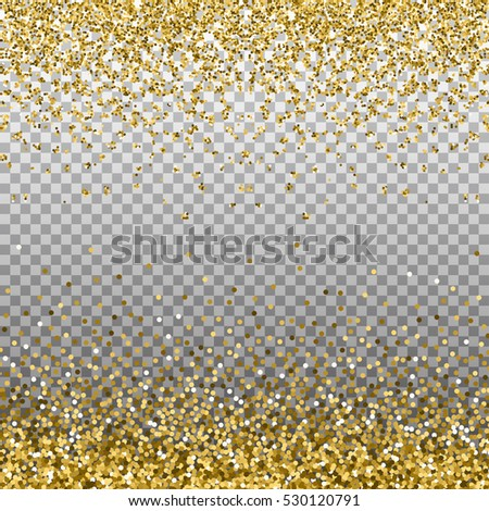 gold glitter background golden sparkles on border template for holiday designs invitation