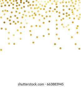 gold glitter background polka dot vector illustration