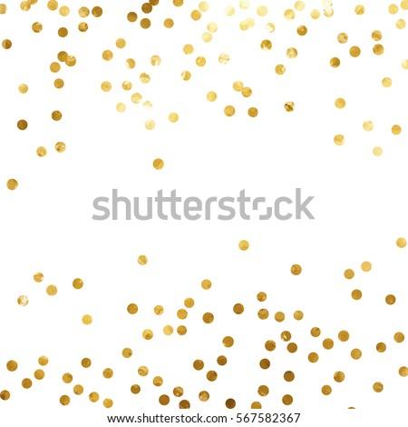 Gold Glitter Background Polka Dot Vector Stock Vector Royalty Free