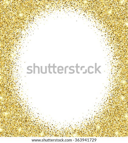 gold glitter background gold sparkle round stock vector royalty
