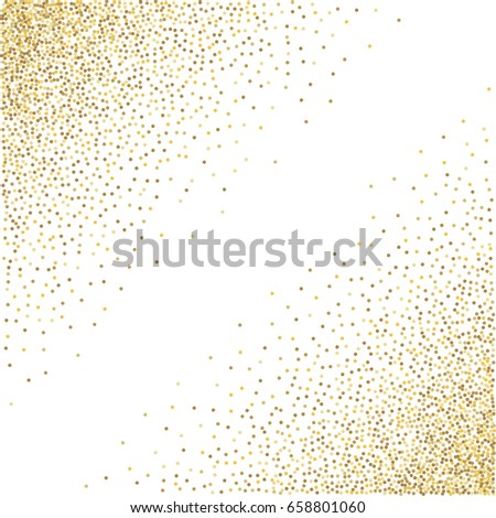 99d36cd7506 Gold Glitter Corners Frame Border Background Stock Vector (Royalty ...